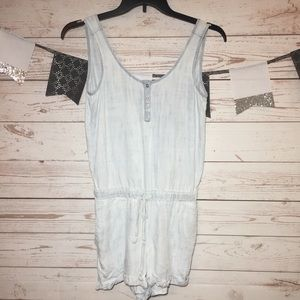 Cloth & Stone Light Chambray Jean Romper Shorts